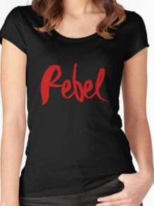 Madonna Rebel Heart / 'Rebel' Women's Fitted Scoop T-Shirt
