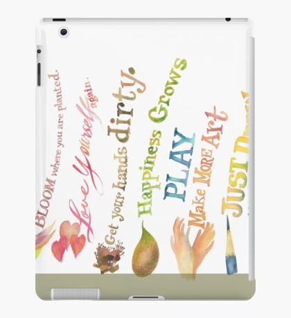 Daily Inspiration, Affirmations, Quotes iPad Case/Skin