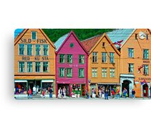 Norway - Bryggen at Bergen Canvas Print