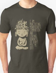 I am Practicing Mindfulness, Compassion and loving kindness so don't piss me off! T-Shirt