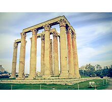 ruins of ancient temple of Zeus, Athens, Greece Photographic Print