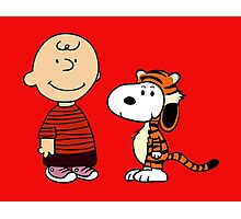 calvin and hobbes meets peanuts Photographic Print