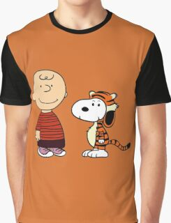 calvin and hobbes meets peanuts Graphic T-Shirt