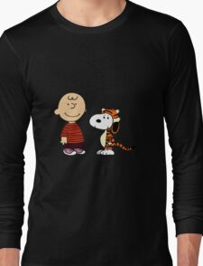 calvin and hobbes meets peanuts Long Sleeve T-Shirt