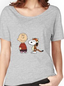 calvin and hobbes meets peanuts Women's Relaxed Fit T-Shirt