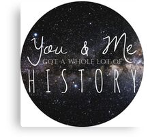 one direction - history Canvas Print