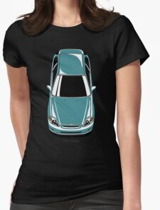 Honda Civic EK (green-blue) Womens Fitted T-Shirt