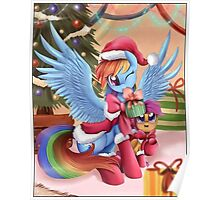 Rainbow Dash Christmas Poster