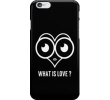 Heart What is Love Print  iPhone Case/Skin