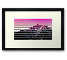 Mountain Difference Framed Print