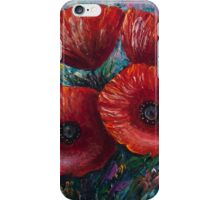 Red Poppies (Palette Knife Painting) by Lena Owens/OLena Art iPhone Case/Skin