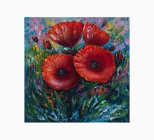 Red Poppies (Palette Knife Painting) by Lena Owens/OLena Art Unisex T-Shirt