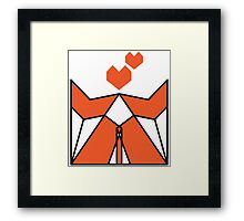 Origami Fox Couple In Love Framed Print
