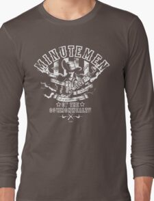 Minutemen Of The Commonwealth - negative colors Long Sleeve T-Shirt