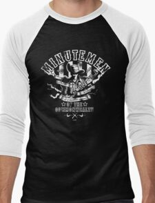 Minutemen Of The Commonwealth - negative colors Men's Baseball ¾ T-Shirt