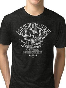 Minutemen Of The Commonwealth - negative colors Tri-blend T-Shirt