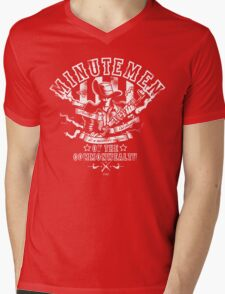 Minutemen Of The Commonwealth - negative colors Mens V-Neck T-Shirt