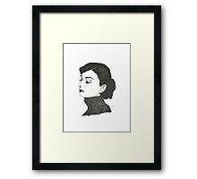 Audrey Hepburn - Dotwork Print Framed Print
