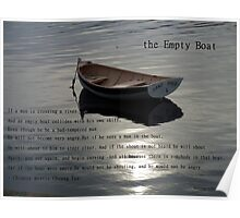 Empty Boat named Sand Piper Poster