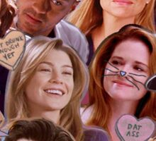 Grey's Anatomy Character Collage Sticker