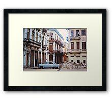 Baby Blue Car in Centro (Havana) Framed Print