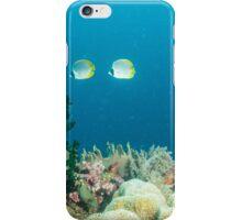 Reef Scene with Panda Butterflies iPhone Case/Skin