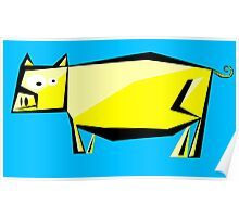 yellow pig Poster