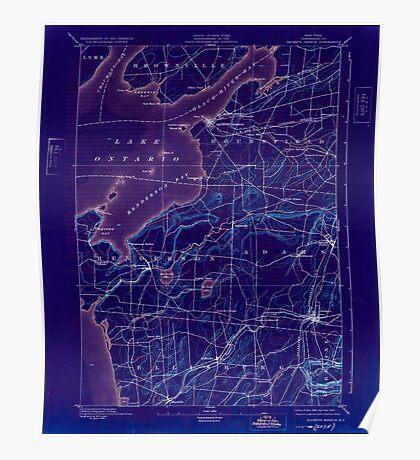 New York NY Sackets Harbor 148380 1895 62500 Inverted Poster