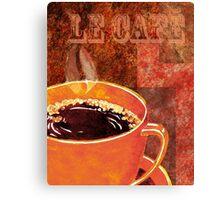 Le Cafe Decor Canvas Print
