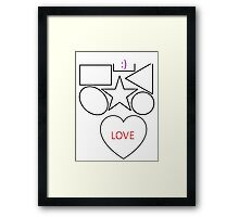 Everyone need a bit of love  Framed Print