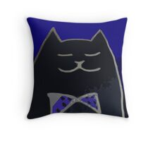 Cat in the Tux Throw Pillow