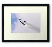 Smoking Gripen Framed Print