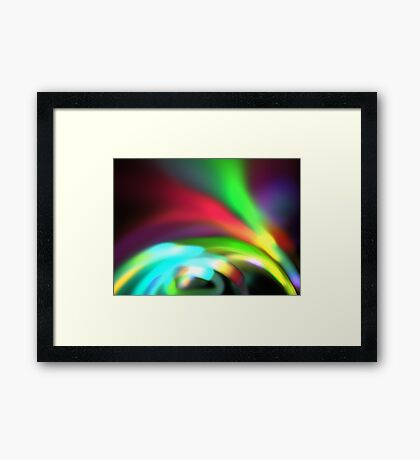 Glowing Arches Framed Print