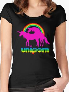 uniporn 2 Women's Fitted Scoop T-Shirt