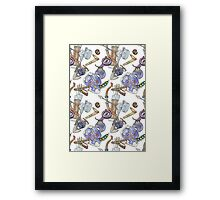 Zelda Patterns Framed Print