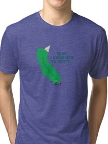 Character Building -  California, knows how to party… Tri-blend T-Shirt