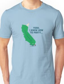 Character Building -  California, knows how to party… T-Shirt