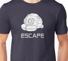 Sci-fi Escape Pod Design with Wording Unisex T-Shirt