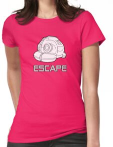 Sci-fi Escape Pod Design with Wording Womens Fitted T-Shirt