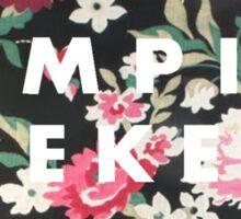 Vampire Weekend Logo on Floral  Sticker