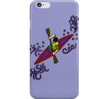 Fun Cool Kayaking Art iPhone Case/Skin