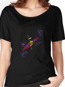 Fun Cool Kayaking Art Women's Relaxed Fit T-Shirt