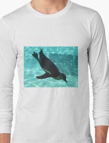 Diving Penguin Long Sleeve T-Shirt