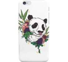Panda bear with flowers iPhone Case/Skin