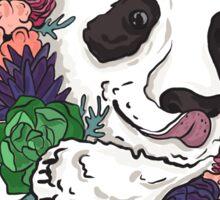 Panda bear with flowers Sticker