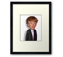 Hilarious Donald Trump! Framed Print