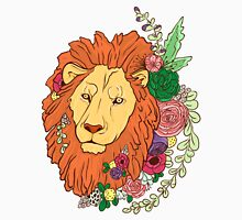 Lion with flowers in his head Unisex T-Shirt