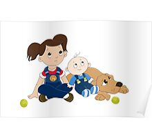 Cute kids clothes Poster