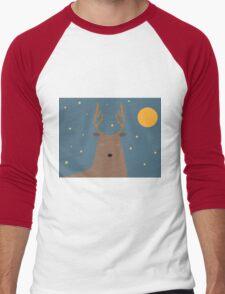 Cute deer Men's Baseball ¾ T-Shirt