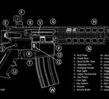 AR-15 Technical Information Sticker